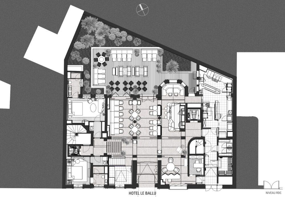 Hôtel le Ballu Vidalenc Architectes